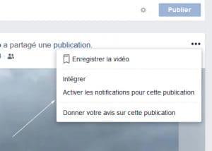 notifications post Facebook